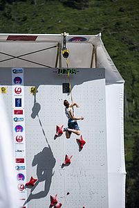 IFSC Climbing Worldcup Chamonix/FRA 2018\rLead and Speed\r\rPic shows: Knapp Lukas