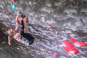Graz (AUT), EUROPEAN YOUTH CUP BOULDER 2018 - image shows: Lotz Julia (AUT) in finals