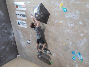 IFSC EUROPEAN YOUTH CUP BOULDER 2019 - Graz (AUT) 11th - 12th May 2019 / image shows: Bräuer Christoph (AUT)