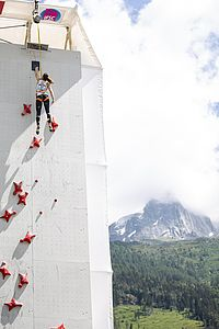 IFSC Climbing Worldcup Chamonix/FRA 2018\nLead and Speed\n\nPic shows: Alexandra Elmer