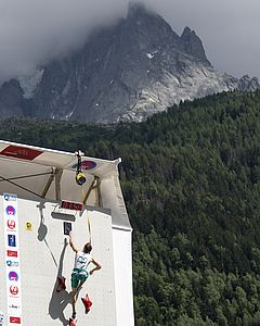 IFSC Climbing Worldcup Chamonix/FRA 2018\nLead and Speed\n\nPic shows: Erber Matthias
