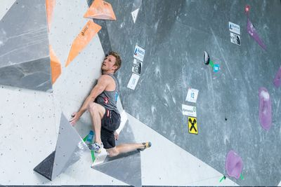 Innsbruck, AUT, 16.JULY.20 - AUSTRIA CLIMBING SUMMER SERIES 2020. Image shows SCHUBERT JAKOB (AUT). Photo: KVOE / ANDREAS AUFSCHNAITER