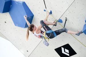 Jessica Pilz of Austria during Qualification of Women Lead for the IFSC Climbing World Championships 2018. Innsbruck, Austria, 06 September 2018.