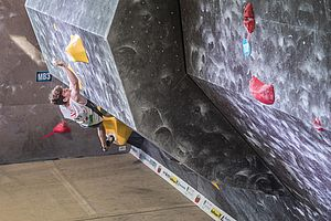 Graz (AUT), EUROPEAN YOUTH CUP BOULDER 2018 - image shows: Bräuer Christoph (AUT) in finals