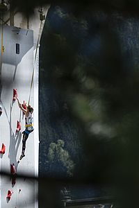 IFSC Climbing Worldcup Chamonix/FRA 2018\rLead and Speed\r\rPic shows: Jessica Pilz