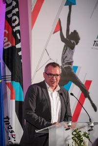 Councilor Johannes Tratter (Tyrolean People\'s Party) during the reception Country Tyrol for the IFSC Climbing World Championships 2018. Innsbruck, Austria, 11 September 2018