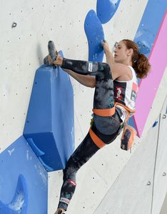 Christine Schranz of Austria during Qualification of Women Lead for the IFSC Climbing World Championships 2018. Innsbruck, Austria, 06 September 2018.