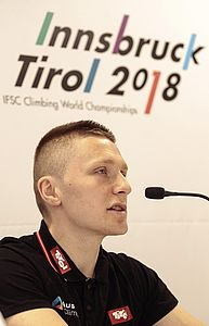 09.04.2018, Innsbruck, AUT, Pressekonferenz, Kletterverband Österreich, Beginn Weltcup-Saison 2018 und Vorschau Kletter-WM Innsbruck/Tirol, im Bild Pawel Draga (KVÖ Nationaltrainer) // during a press conference of Climbing Association Austria (KVÖ) to the upcoming World Cup season 2018 and preview of World Climbing Championships in Tyrol. Innsbruck, Austria on 2017/04/09. EXPA Pictures © 2018, PhotoCredit: EXPA/ Johann Groder