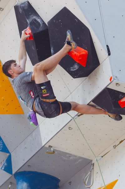 JUGEND-WM 2019 -\nIFSC CLIMBING YOUTH WORLD CHAMPIONSHIPS - Arco (ITA) 21-31 August 2019 / image shows: Louis Gundolf