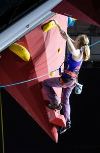 Hannah Baldwin of United Kingdom during the Ladies RP2 Para Climbing for the IFSC Climbing World Championships 2018. Innsbruck, Austria, 13 September 2018