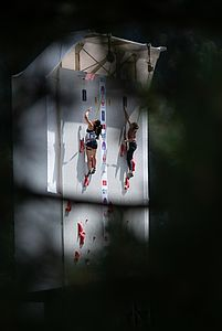 IFSC Climbing Worldcup Chamonix/FRA 2018\nLead and Speed\n\nPic shows: