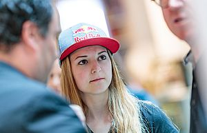 29.05.2018, Metropol, Innsbruck, AUT, IFCS Kletter WM, Pressekonferenz, im Bild Jessica Pilz // during the Pressconference for the IFSC Climbing World Championships at the Metropol, Innsbruck, Austria on 2018/05/29. EXPA Pictures © 2018, PhotoCredit: EXPA/ JFK