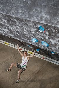 Graz (AUT), EUROPEAN YOUTH CUP BOULDER 2018 - image shows: Pötzi Mattea (AUT)