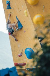 JUGEND-WM 2019 -\nIFSC CLIMBING YOUTH WORLD CHAMPIONSHIPS - Arco (ITA) 21-31 August 2019 / image shows: Emila Warenski while Lead Final Youth B female