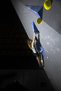 IFSC Boulder Worldcup Hachioji/Japan 2018\nJune 2nd and 3rd 2018\nPic Shows: Johanna Färber in the Qualification