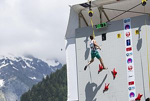 IFSC Climbing Worldcup Chamonix/FRA 2018\nLead and Speed\n\nPic shows: Erbe Matthias