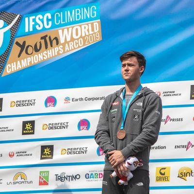 JUGEND-WM 2019 -\nIFSC CLIMBING YOUTH WORLD CHAMPIONSHIPS - Arco (ITA) 21-31 August 2019 / image shows: Nicolai Uznik (AUT)