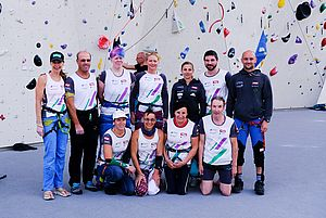 Paraclimbing Training Camp July 2018, Pic shows participants from Austria