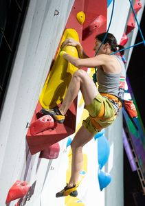Melinda Vigh of Hungary during the Ladies AU2 Para Climbing for the IFSC Climbing World Championships 2018. Innsbruck, Austria, 13 September 2018