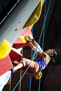Anita Aggarwal of United Kingdom during the Ladies RP2 Para Climbing for the IFSC Climbing World Championships 2018. Innsbruck, Austria, 13 September 2018