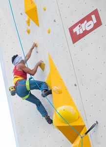 Francisco Javier Aguilar Amoedo of Spain during the Para Climbing qualification for the IFSC Climbing World Championships 2018. Innsbruck, Austria, 12 September 2018
