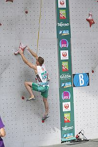 IFSC Climbing Worldcup Arco/ITA 2018\rSpeed Qualification\r\rPic shows: Matthias Erber