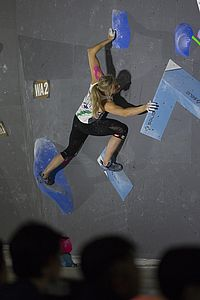 IFSC Boulder Worldcup Hachioji/Japan 2018\rJune 2nd and 3rd 2018\rPic Shows: Berit Schwaiger in Qualification