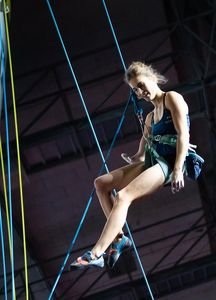 Solenne Piret of France during the Ladies AU2 Para Climbing for the IFSC Climbing World Championships 2018. Innsbruck, Austria, 13 September 2018