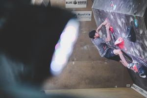IFSC EUROPEAN YOUTH CUP BOULDER 2019 - Graz (AUT) 11th - 12th May 2019 / image shows: Hofherr Johannes (AUT)