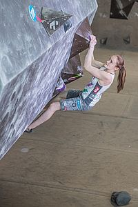 Graz (AUT), EUROPEAN YOUTH CUP BOULDER 2018 - image shows: Lettner Sandra (AUT) in final