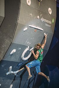 European Championships Bouldering 2015 at Marktplatz Innsbruck. picture shows Jakob Schubert (AUT)