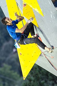 IFSC Climbing Worldcup Briancon/FRA 2018\nLead Finals\n\nPic shows: Romain Desgranges (FRA)