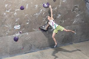 Graz (AUT), EUROPEAN YOUTH CUP BOULDER 2018 - image shows: Stöckler Laura (AUT) in qualification