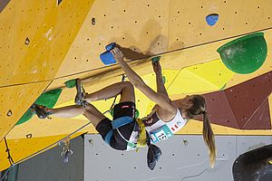 IFSC Climbing Worldcup Arco/ITA 2018\nLead Finals\n\nPic shows: Jessica Pilz