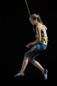 Jessica Pilz of Austria during the Ladies Speed qualification for the IFSC Climbing World Championships 2018. Innsbruck, Austria, 13 September 2018