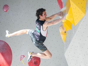 Adam Ondra of Czech Republic during the Men Boulder qualification for the IFSC Climbing World Championships 2018. Innsbruck, Austria, 12 September 2018
