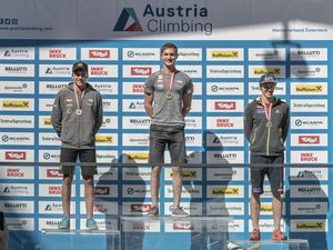 AUSTRIAN OPEN 2019 - Innsbruck (AUT) 13th - 16th June 2019 / image shows: podium men 1 Matthias Erber. 2 Tobias Plangger 3 Andreas Aufschnaiter