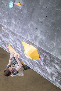Graz (AUT), EUROPEAN YOUTH CUP BOULDER 2018 - image shows: Podolan Thomas (AUT) in finals