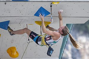 IFSC Climbing Worldcup Arco/ITA 2018\nLead Semifinals\n\nPic shows: Jessica Pilz
