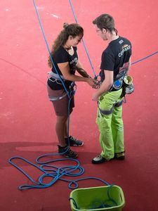 Nils Helsper of Germany during the Mens RP1 Para Climbing for the IFSC Climbing World Championships 2018. Innsbruck, Austria, 13 September 2018