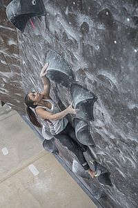 Graz (AUT), EUROPEAN YOUTH CUP BOULDER 2018 - image shows: Lammer Laura (AUT) in qualification