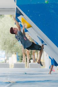JUGEND-WM 2019 -\nIFSC CLIMBING YOUTH WORLD CHAMPIONSHIPS - Arco (ITA) 21-31 August 2019 / image shows: Lawrence Bogeschdorfer