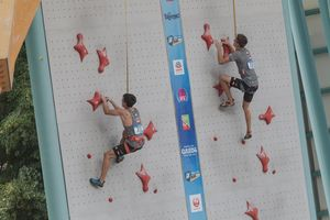 JUGEND-WM 2019 -\nIFSC CLIMBING YOUTH WORLD CHAMPIONSHIPS - Arco (ITA) 21-31 August 2019 / image shows: Johannes Hofherr and Lawrence Bogeschdorfer