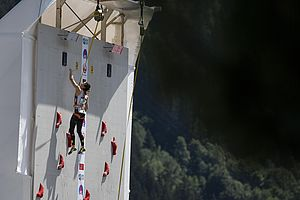 IFSC Climbing Worldcup Chamonix/FRA 2018\rLead and Speed\r\rPic shows: Alexandra Elmer
