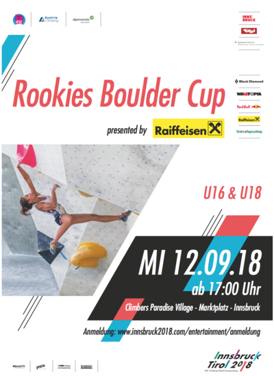 Rookies Boulder Cup presented by Raiffeisen